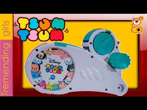 Tsum Tsum Disney Máquina de Pegatinas Stickers - Juguetes Tsum Tsum en español - Tsum Tsum Toys