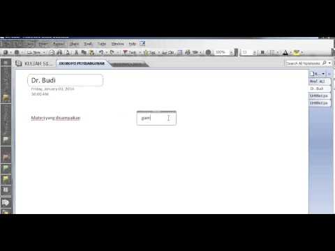 Cara menggunakan microsoft onenote (How to Using Onenote)