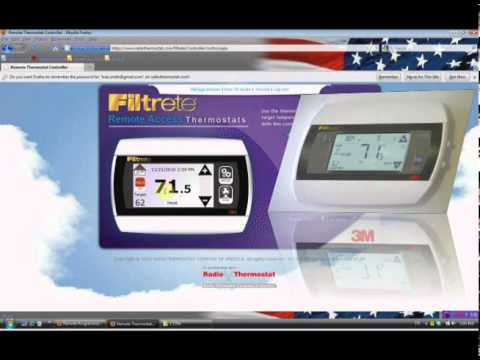 Filtrete 3M50 Thermostat - How to operate the 3M50 via a web browser