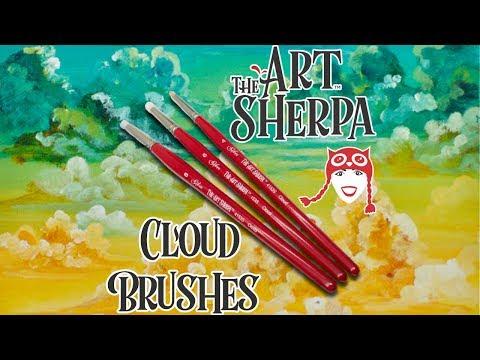 The Art Sherpa Cloud Set Beginning Acrylic Paint Brush Silver Brush Limited