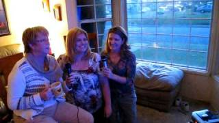 Kellee, sister Monica, and Aunt Sue - karaoke