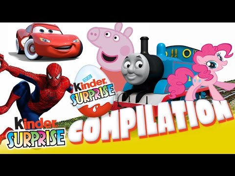 TOYS Frozen Play-Doh Peppa Pig, Angry Birds, Thomas and Friends Surprise Eggs for Kids