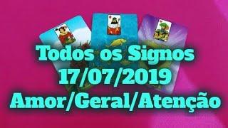 Previsões Diárias Todos os Signos 17/07/2019 horoscopo do dia conselho baralho cigano tarô