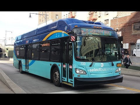 MTA NYC Bus: On Board New Flyer XN40 Xcelsior [#722] Bx6 +SBS+ From Riverside Drive to Hunts Point