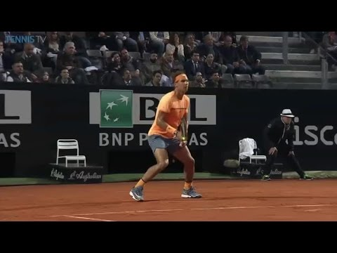 Nadal break point conversion at the Internazionali BNL d'Italia
