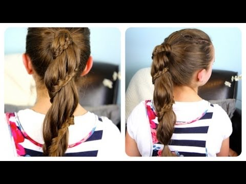 Winding Lace Braid Ponytail Cheat