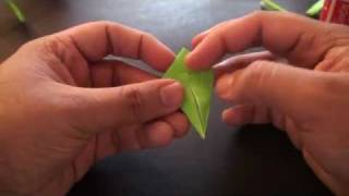 Origami Daily - 190: Rose Stem &amp; Leaf (valentine's Day) - Tcgames [hd]