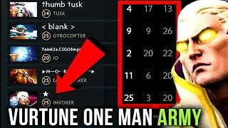 Vurtune Best Pub Invoker in China?! One Man Army 1vs9 Insane Comeback - Refresher Orb Plays Dota 2