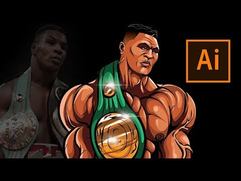 How To Draw !- Mike Tyson Step By Step /Tutorial ( ADOBE ILLUSTRATOR )
