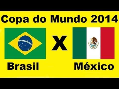 Brasil 0 x 0 Mexico - Copa do Mundo 2014 Brasil - Grupo A - Jogo Completo - Audio TV Globo