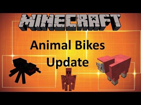 MINECRAFT: ANIMAL BIKES MOD UPDATE (1.9 MOD SHOWCASE)