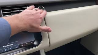Unlock and Lock your Range Rover Glove Box using Valet Mode