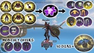 50 Dias Monster Truck - Spending Diamonds Purple Shards Insect Warrior + Epic Old Skins (ROS UPDATE)