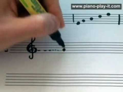 Piano Notes On The Treble Staff - Free Beginner Piano Lesson (Lesson 7...