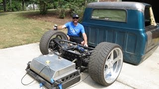 Finnegans Garage Ep  19: Airbagged, Body Dropped, LS Swapped 67 Chevy C10 Project