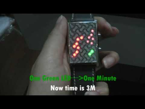 How to Use Japanese Inspired Red Yellow Green LED Watch