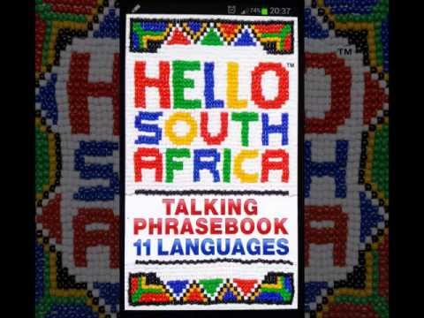 Learn South Africa's 11 Official Languages with the Hello South Africa Talking Phrasebook App