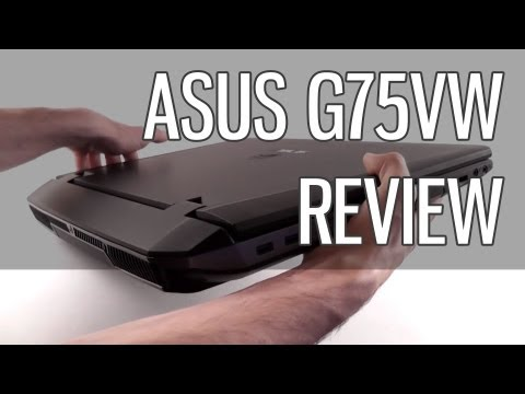 Asus G75VW review - powerful Asus G75 gaming laptop tested
