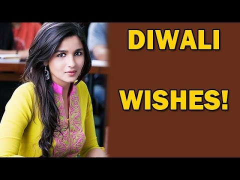 Alia Bhatt wishes 'Happy Diwali' in her style! | Bollywood News
