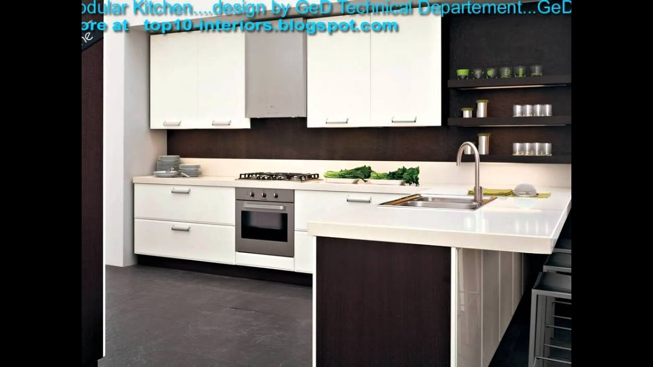 Latest top10 modular modern kitchen part8 youtube for Latest home kitchen designs