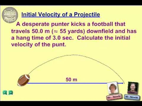 how to find velocity with height