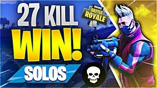 27 KILL SOLO WORLD RECORD ATTEMPT! (Fortnite Battle Royale)