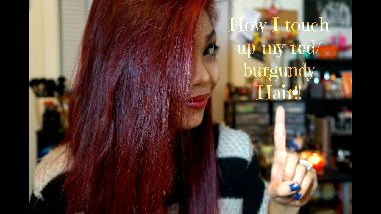 How I Touch Up My Burgundy Red Hair Youtube