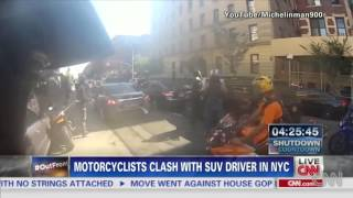Bikers Chase Range Rover Driver After Rider Is Hit