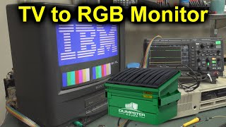 EEVblog #1246 - Dumpster TV to Retro RGB Monitor Conversion