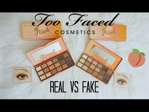 REAL vs FAKE $10: Too Faced Sweet Peach Palette (How To Spot) #1