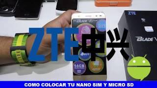 Como Colocar el Chip y Micro SD al Nuevo ZTE BLADE V6 PLUS