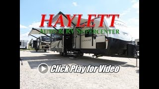 HaylettRV - 2018 Cougar 34TSB Half Ton Bunkhouse Outside Kitchen Travel Trailer by Keystone RV
