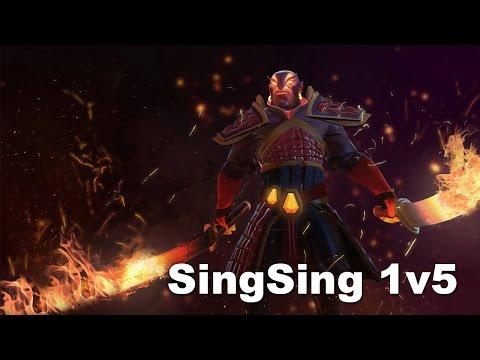 SingSing Ember almost 1v5 Dota 2