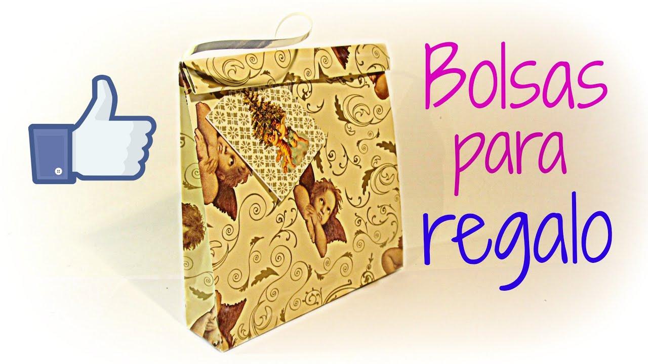 C mo hacer bolsas de regalo f cil how to make easy gift - Como hacer bolsas de regalo ...