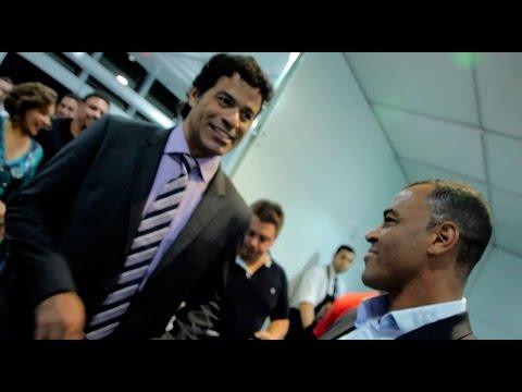 Cafu, Raí e Ronaldo no Salão do Automóvel 2014