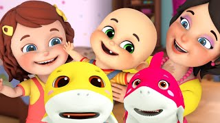 The wheels on the bus, Baby Shark doo doo doo | nursery rhymes compilation by Jugnu Kids