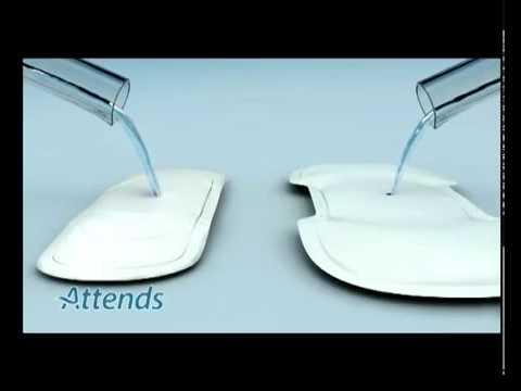 Attends Incontinence Pads Absorbency Demonstration.