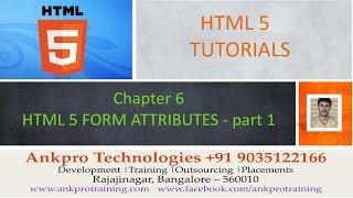 HTML 5 - Chapter 6 - HTML 5 form attributes (autocomplete, autofocus, list, max, min, multiple)