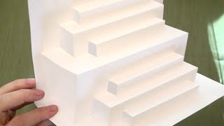 ASMR: Paper Engineering - Stair Steps (ASMR trigger sounds, Paper Popup, tingles, soft talking)