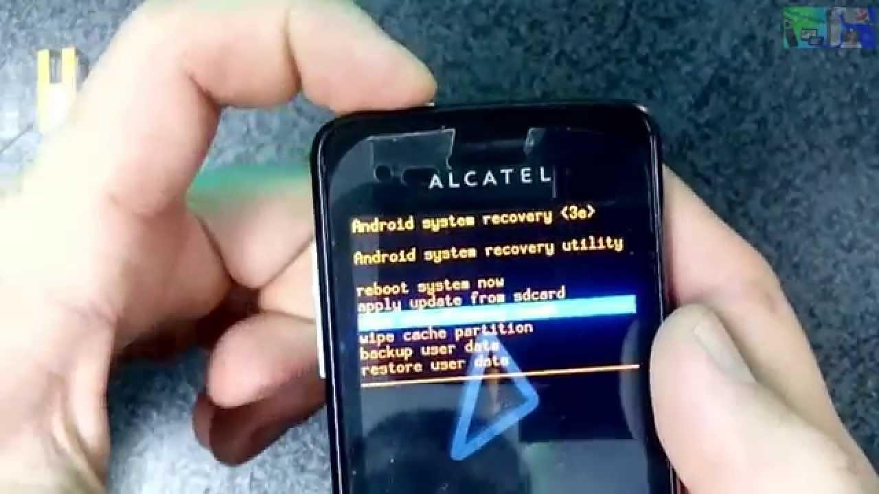 Как сделать сброс настроек на alcatel pixi 4 358