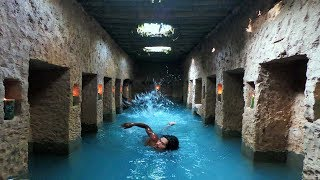 Build The Most Secret Ancient Underground Temple And Swimming Pool