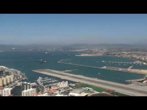 Airplane Taking Off from Gibraltar Airport