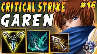 Critical Strike Predator GAREN Top | Ft. AFK Jungler On My Team | Iron IV to Diamond Episode #16