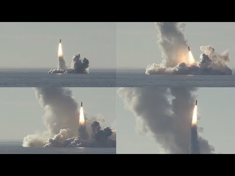 Russian submarine test fires four intercontinental ballistic missile in salvo
