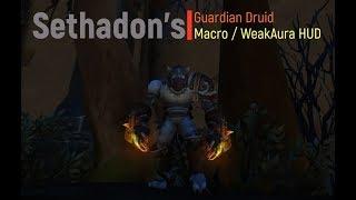 Guardian Druid Macro / WeakAura HUD with Cat Weaving (ADVANCED)