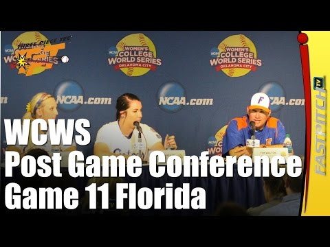 2015 WCWS | Post Game 11 Press Conference | Florida