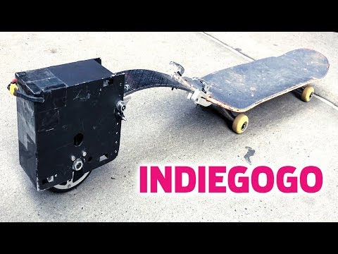 SKATEBOARD ELECTRIC TRAINING WHEELS?!