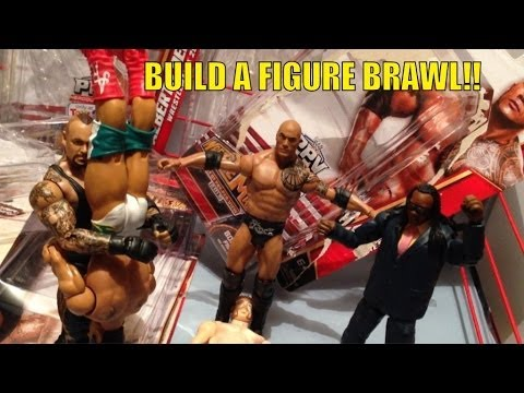 GTS WRESTLING: Build A Figure Brawl! WWE Action matches TRU exclusive Booker T, The Rock and more