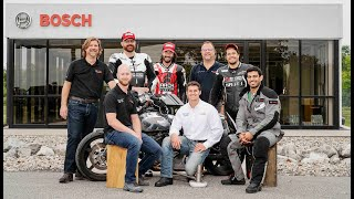 Bosch & Arch Motorcycle 2 wheel ABS testing.