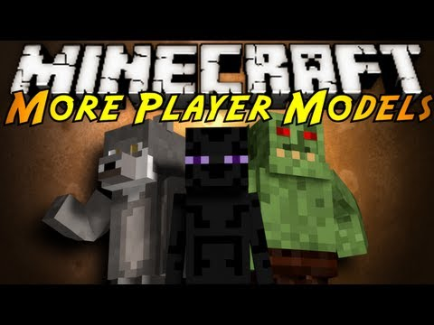 Watch Minecraft Mod Showcase : MORE PLAYER MODELS!